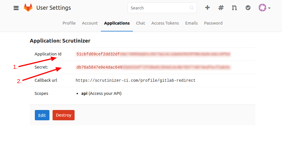 GitLab API Credentials