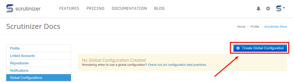 Creating Global Configuration