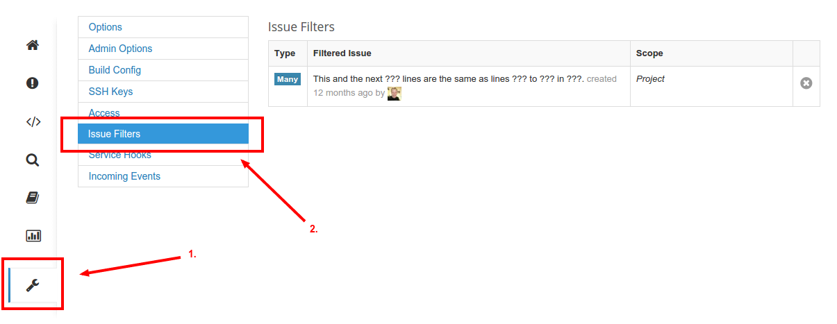 Removing Issue Filters